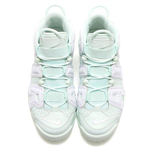 Nike Womens Air Più Uptempo A Malapena / Verde / Bianco Scarpa Da Basket 9.5 Donne Noi