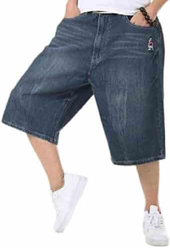 06f109ac85 Shorts Denim Pandapang Mens Faded Straight Basic Cut Off Bermuda Ripped  Denim Shorts