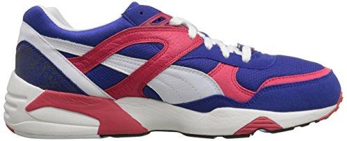 Puma Mens Trinomic R698 Spets-up Mode Sneaker Mazarine Blå / Vit / Röd Teaberry