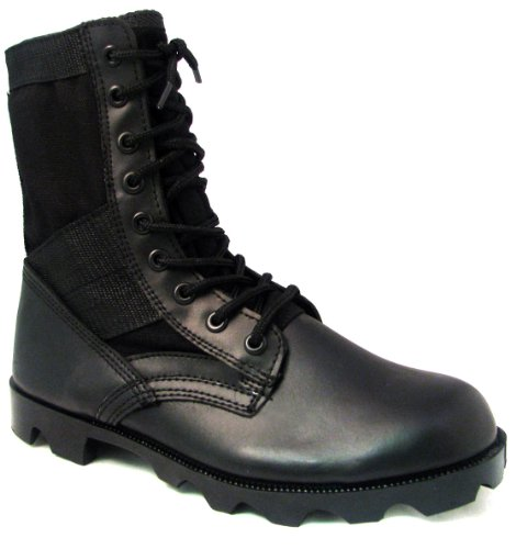 Men's Jungle Boots G.I. Type Lace up Tactical Combat Military Work Shoes Width: Wide (W or 2E) (12 W US, Black)