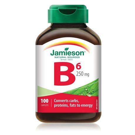 Jamieson Vitamin B6 (Pyridoxine)250mg, 100 caplets