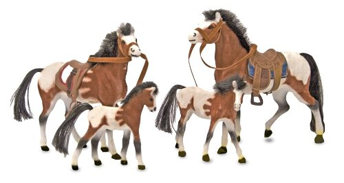 Doug Pasture Pals - Melissa & Doug Horse Family With 4 Collectible Horses
