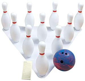 Amazon Com Champion Indoor Outdoor Weighted Bowling Set