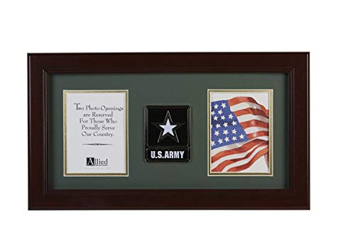 Army Medallion Double Picture Frame