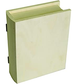 Artemio - Caja con forma de libro (17 x 21 x 7 cm, madera