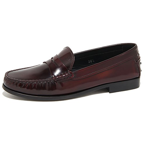 Loafer Tod's Donna 9219n Scarpe Bordeaux Women Mocassino RXSnR