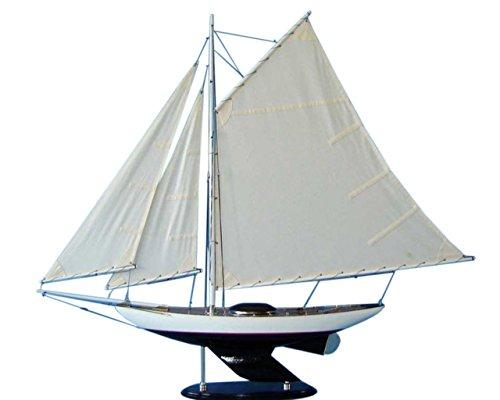 Hampton Nautical  Wooden Modern Decor Sloop Sailing Yacht...