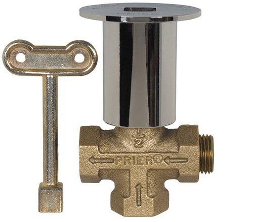 PRIER PRODUCTS C-64BR 3-Way Gas Log Lighter Valve with Polished Brass Escutcheon, 24 Piece