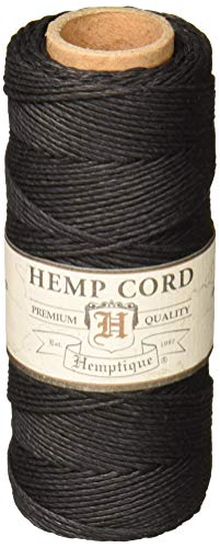 (Hemptique #20 Hemp Cord Spool Black)
