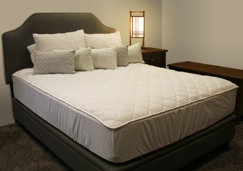Twin Washable Wool Mattress Pad- 100% Cotton Covered Belgian, Lambswool Filled Mattress Pad by 45th Street Bedding - Machine Wash, Machine Dry.