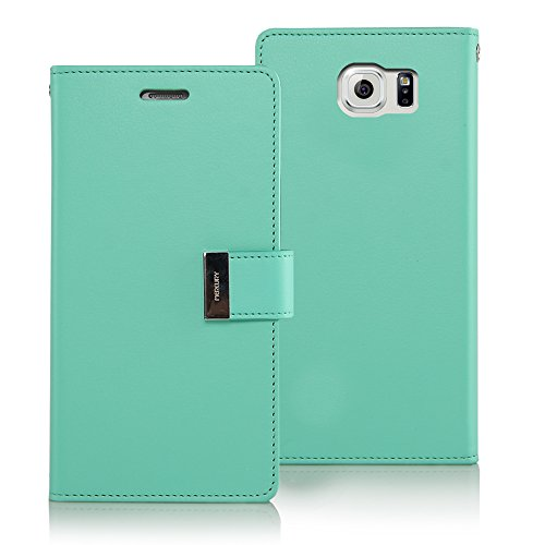 Compartment Type (Galaxy S6 Case, [Drop Protection] GOOSPERY Rich Diary [Wallet Type] Premium Soft Synthetic Leather Case [ID Credit Card Slots & Cash Compartment] Cover for Samsung Galaxy S6 [Galaxy SVI] - Mint)