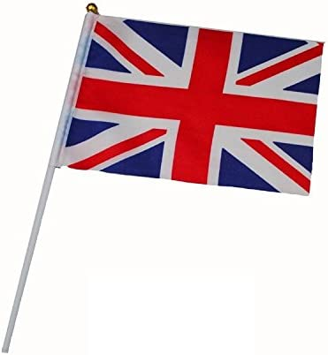 inShang Bandera, Mano Banderas de España España Inglaterra Alemania Irlanda Dinamarca Finlandia Grecia Países Bajos Noruega Polonia Rusia Suecia, (10pcs / Paquete/un país Solamente): Amazon.es: Deportes y aire libre