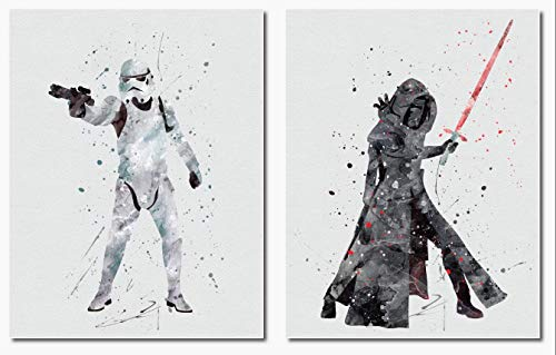 Kylo Ren Stormtrooper Wall Art Print Room Decor 2 Pack