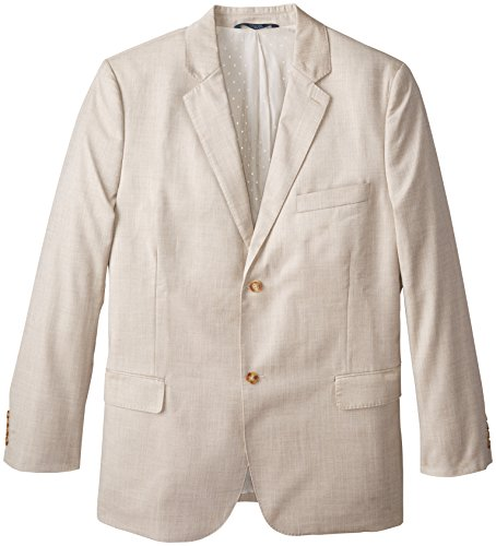 Perry Ellis Men's big-tall Big & Tall Textured Suit Jacket, Natural Linen, 52-RG (Textured Suit Jacket)