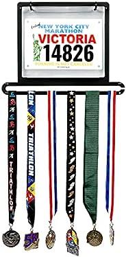 Medal Awards Rack Premier Medal and Bib Hanger Display Rack for Track, Marathons, Triathlons, Races, and More