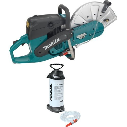 Makita EK7301 14-Inch 73 cc Power Cutter 988-394-610 2.6 Gallon Pressurized Water Tank