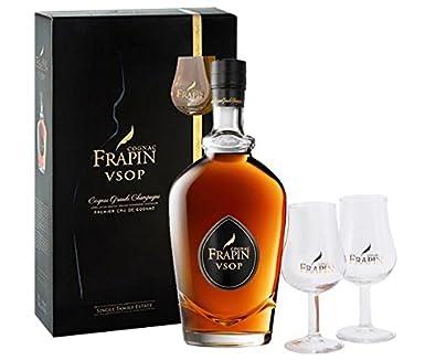 Frapin VSOP mit Gläsern Cognac 40% 0,7l Flasche: Amazon.de: Bier ...