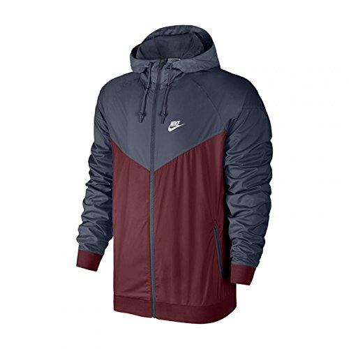 Nike Mens Windrunner Hooded Track Jacket Team Red/Thunder Blue/White 727324-679 Size Small