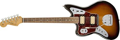 (Fender Kurt Cobain Jaguar LH NOS 3 Tone Sunburst Solid-Body Electric Guitar)