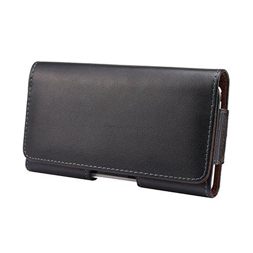 2 opinioni per Nero Custodia iPhone 6s Plus Horizontal Leather Belt Case 5.5 inch MisVoice