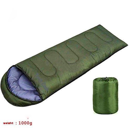 Sleeping Bag -TechCode® Outdoor-Camping-und Backpacking Kompressionssack Climbing The Mountain-Schlafsack Sommerpause für Camping, Wandern, und Im Freien (Grün)