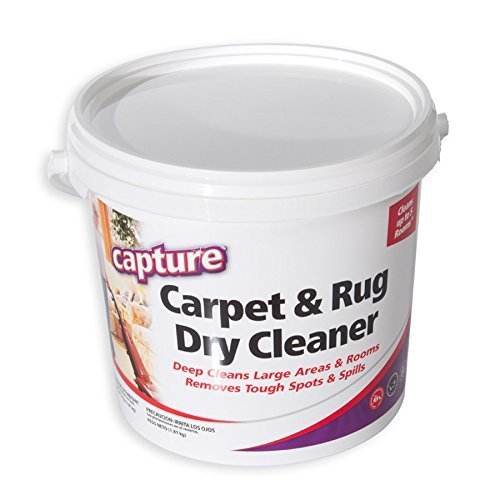 (Capture Carpet Dry Cleaner Powder 2.5 Pound - Resolve Allergens Stain Smell Moisture from Rug Furniture Clothes and Fabric, Mold Pet Stains Odor Smoke and Allergies)