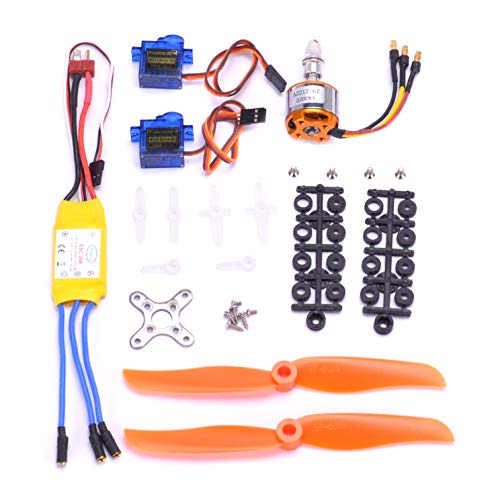 FPVKing 2212 2200KV Brushless Motor+30A ESC Electric Speed Controller+6035 Propeller+SG90 9G Micro Servo for RC Fixed Wing Plane Helicopter