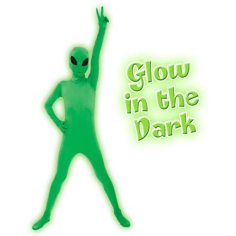 Morphsuits Glow Alien Kids Costume - size Medium 3'6-3'11 (105cm-119cm) ()