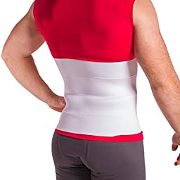 Elastic Post Surgical Abdominal Compression Binder - Stomach Surgery Recovery Band to Help Muscles & Incision Heal Faster (Large - 12\