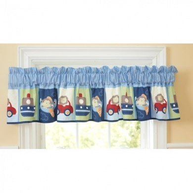 Carters Child of Mine Boys Boys On The Go Window Nursery Valance Triboro Quilt
