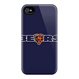 Protective Tpu Case With Fashion Design For Iphone 4/4s (chicago Bears 4)