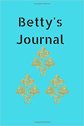 bettys journal 6 x 9 white blank lined paper blank letter format journal to write in trueheart designs 9781723381058 amazoncom books
