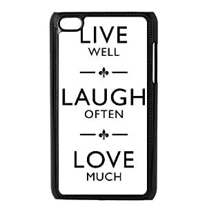 ipod 4 cell phone cases Black Live Laugh Love fashion phone cases UTE443553