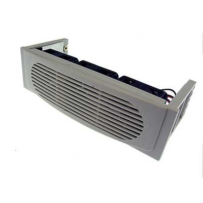 Beige Hard Drive Cooler with 3 Fans and 5.25-in Bay Mounting - Hard Kit Drive Cooler