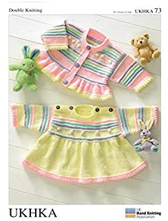 b313364e0 Baby DK Double Knitting Pattern Long Sleeved Striped Frill Sweater ...