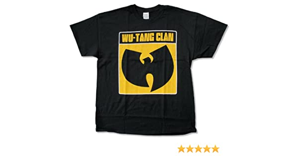 Adult Wu Tang Clan White Outline Black T Shirt