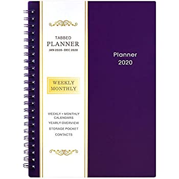Amazon.com : 2020 Planner - Weekly, Monthly and Yearly ...