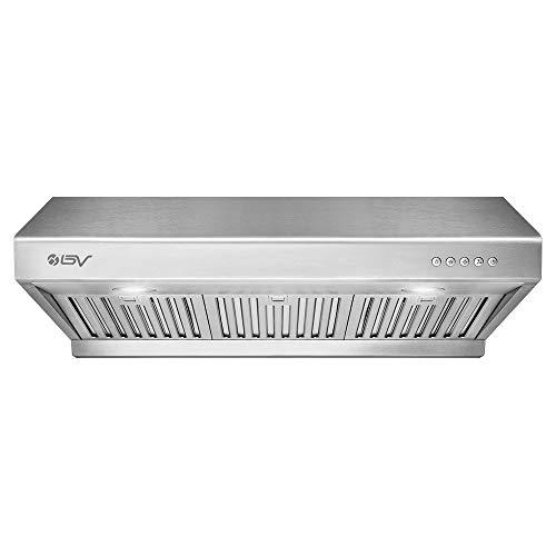 BV Range Hood – 30 Inch 750 CFM Under Cabinet Stainless Steel Kitchen Range Hoods, Dishwasher Safe Baffle Filters w/LED…