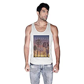 Creo Bahamas Beach Tank Top For Men - M, White