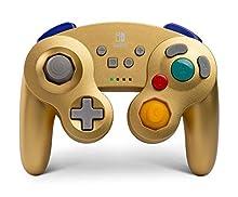 Mando inalámbrico para Nintendo Switch GameCube. Estilo GameCube Dorado