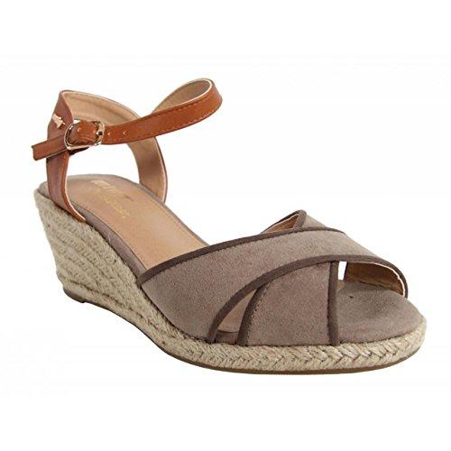 Chaussures compensées pour Femme MTNG 51847 TEKA TAUPE