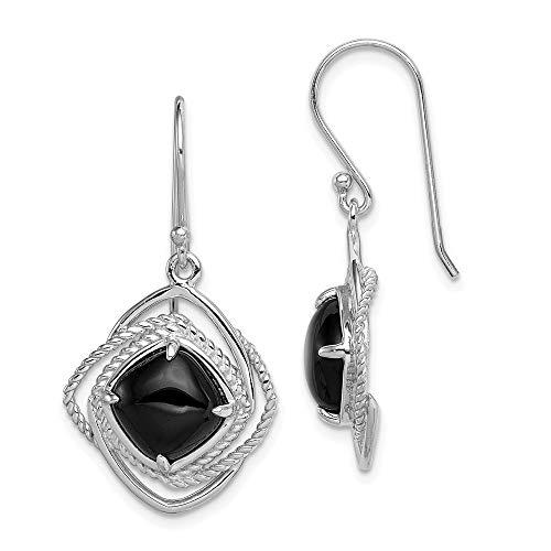 925 Sterling Silver Black Onyx Drop Dangle Chandelier Earrings Fine Jewelry Gifts For Women For Her
