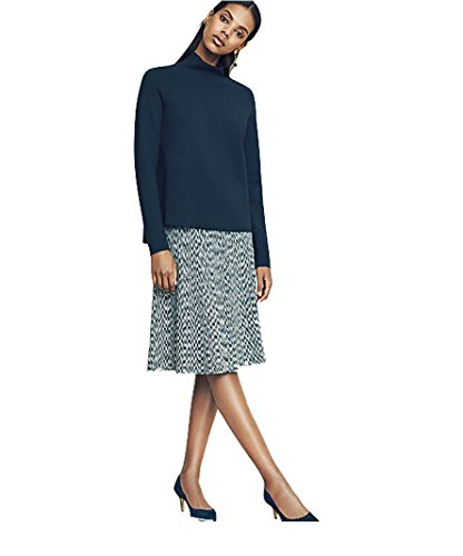 ann-taylor-womens-gray-variegated-space-dye-knit-flared-a-line-skirt