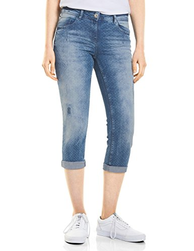 mid Jeans 10284 Slim Blu Blue Donna Cecil Wash AwqI1dA