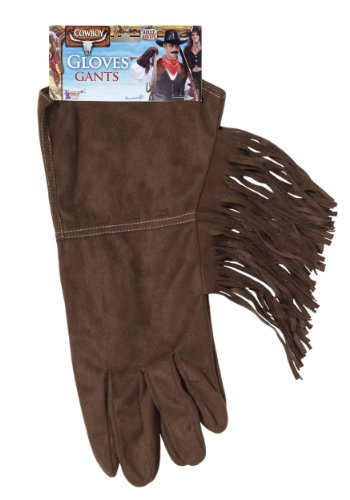 Cowboy Brown Fringe Gloves (Cowboy Gloves)