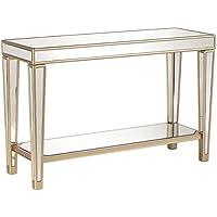 Furniture HotSpot - Mirrored Console Table - Mirror w/ Champagne – 46 W x 16 D x 30 H