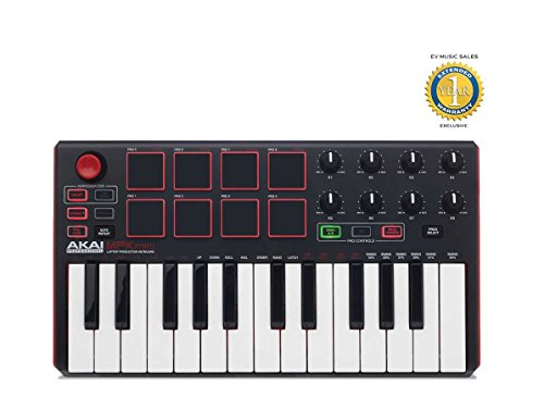 Akai MPK Mini Mk2 Compact Keyboard and Pad Controller with 1 Year Free Extended Warranty