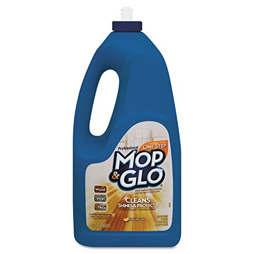 (Professional MOP & GLO 74297CT Pro Mop/Glo Floor Cleaner, 64oz, Lemon Scent, 6/CT, Tan)