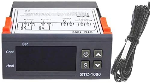 ouying1418 STC-1000 Controlador termostato Digital Profesional de Uso múltiple de la Temperatura