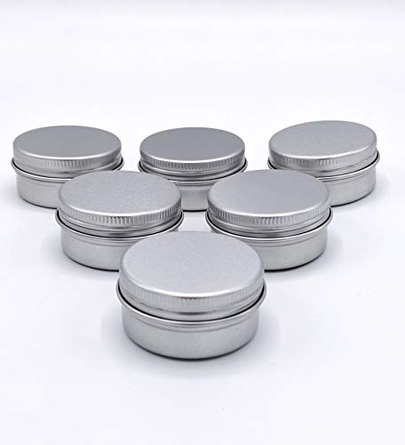 Empty Screw Top Round Tin Containers for Lip Balm, Crafts, C
